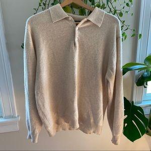 Woods & Grey 100% Cashmere Sweater w/ Collar M